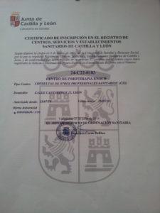 Certificado Sanitario Fisioterapia León Enoc